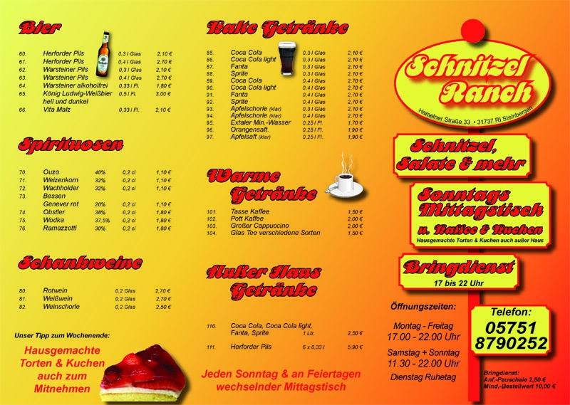 Schnitzelranch 2500 Falzflyer 6 Seiten DIN lang 135 g glänzend 4-4farbig1 Kopie