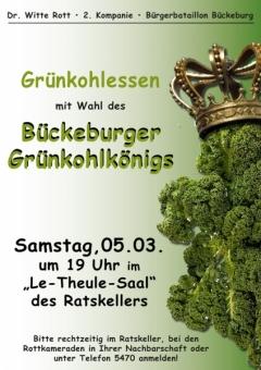Plakat - 2016 Bückeburger Grünkohlkönig