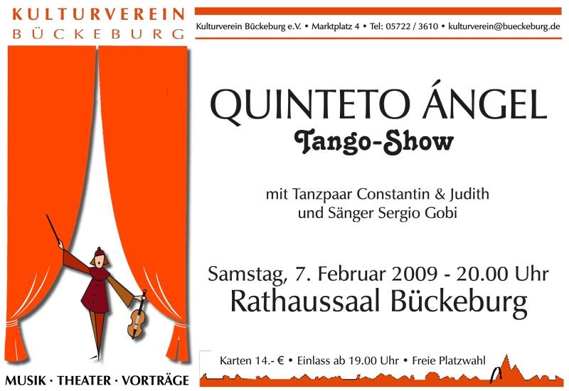 Plakat - 2009 Quinteto Ángel