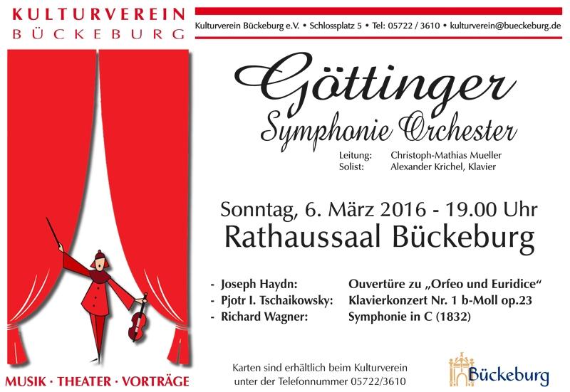 Plakat - 2016 Göttinger Symphoniker