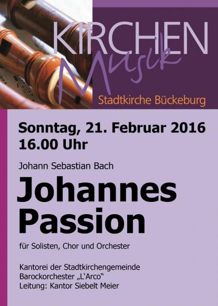 Programmheft - Johannes Passion
