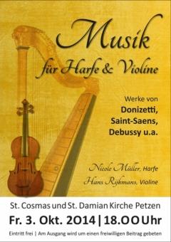 Plakat - Konzert Harfe und Violine