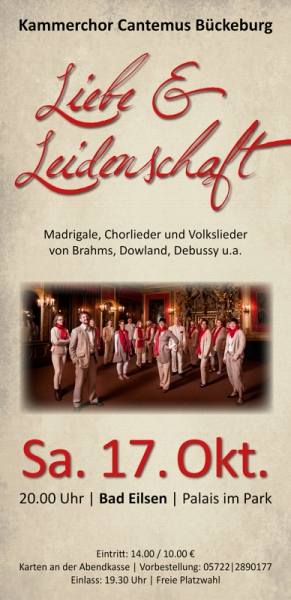 Plakat - Cantemus Konzert Bad Eilsen
