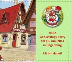 Klappkarte - Einladung KNAX Geburtstag - Seite 2