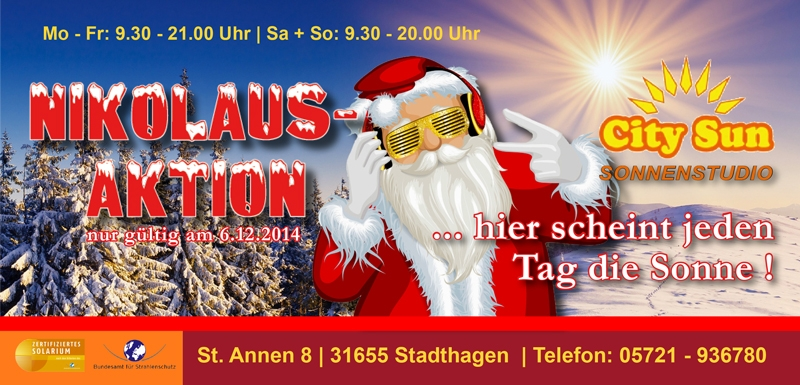 Postkarte - Nikolausaktion City Sun